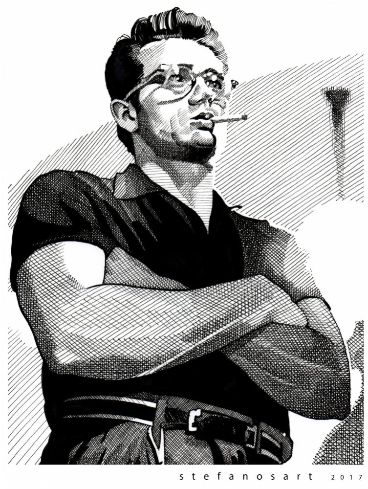 James Dean por Stefanosart